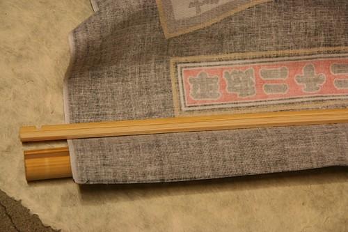 ヒノキのタペストリー棒