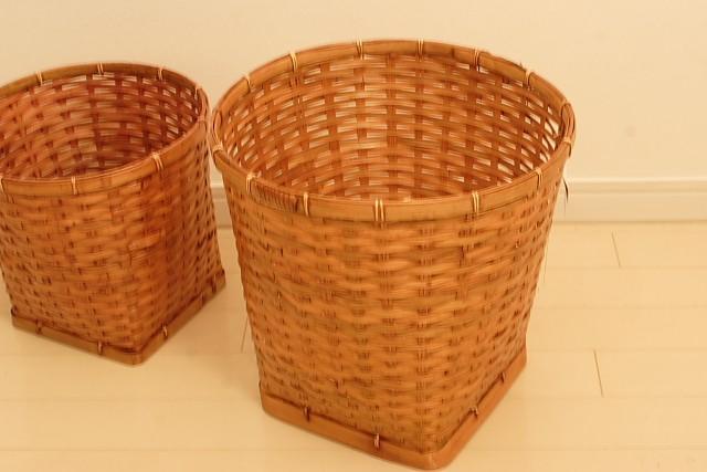 バンブー 丸型バスケット