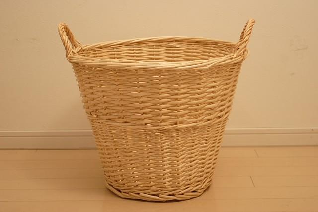 br>柳の丸型ランドリーバスケット