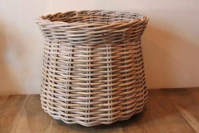 ラタン 鉢カバーバスケット
