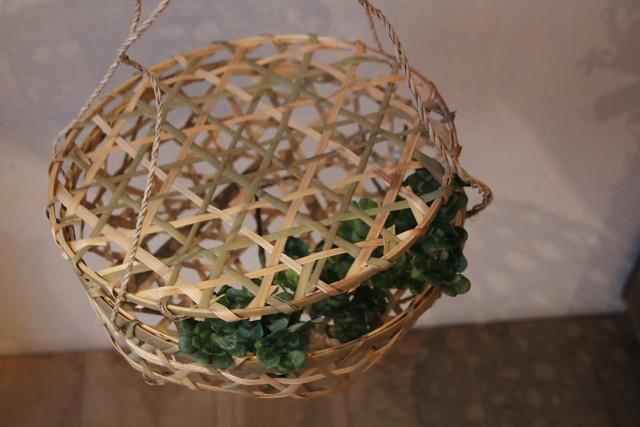 竹吊りかご