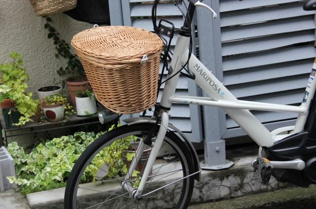 柳 自転車バスケット