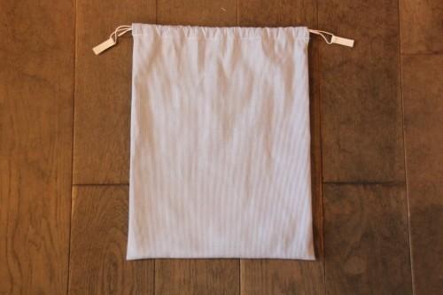 コットン巾着ホワイト menuiオリジナル