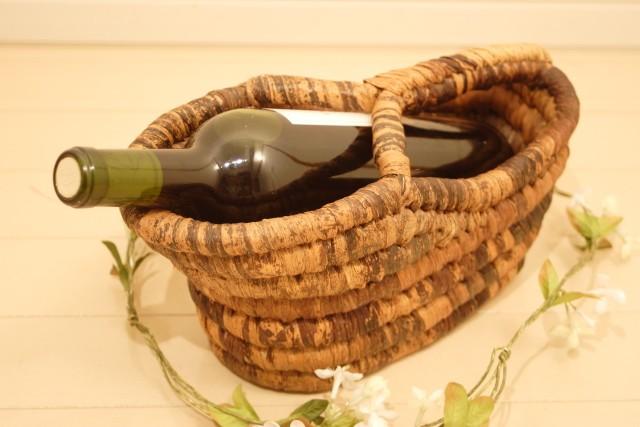 バナナリーフワインボトルホルダー
