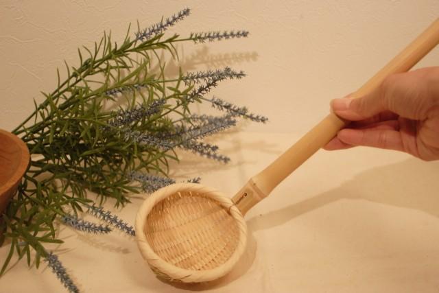 竹製お玉じ