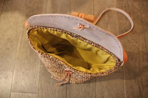 天然素材のショルダーバッグ バナナかごバッグ