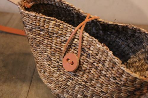 天然素材のショルダーかごバッグ バナナ籠