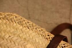 縁レース編みマルシェバスケット 平革手