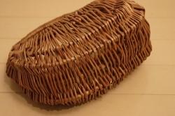 柳 三日月型かごバッグ