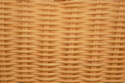 ラタン 手付き角型バスケット
