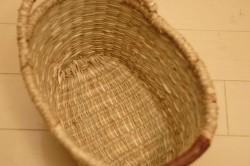 シーグラス楕円型手付きバスケット