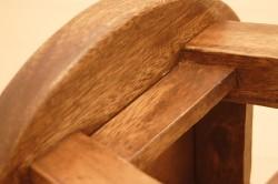 木製チークスツール