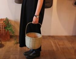 竹かごバッグ