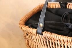 アラログの半月トートかごバッグ