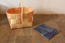フィンランド製のもみの木バスケット