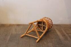 ラタンのフラワーラインプランターバスケット