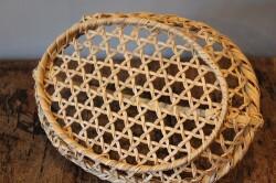 国産真竹の手付き水切りかご