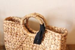 ウォーターヒヤシンスのリングハンドルかごバッグ