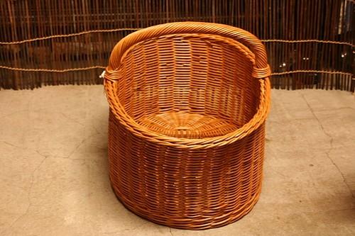 ラタンワンハンドルピクニックバスケット
