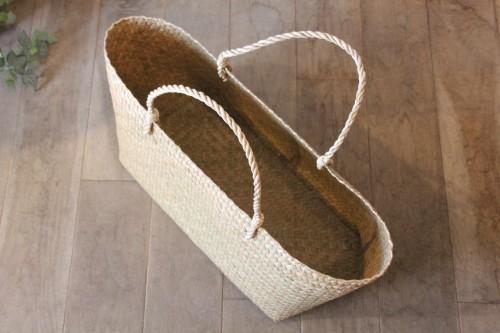 カチュー水草で編んだ横長かごバッグのXLサイズ