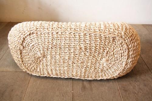 アバカ素材で編んだmenuiオリジナルの横長トートかごバッグ
