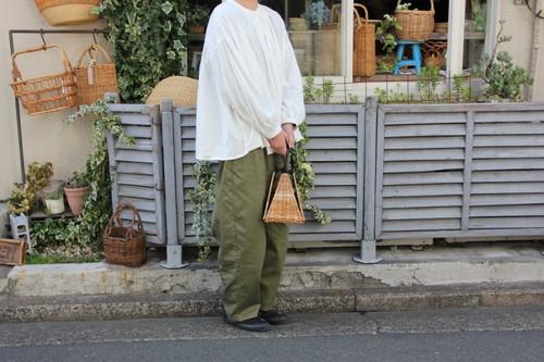 アラログトライアングル巾着かごバッグ