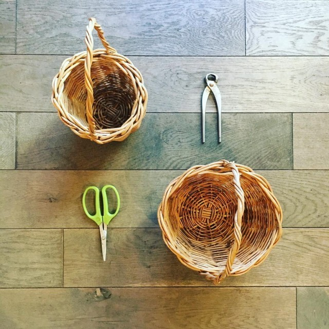 紅籐かご編み素材