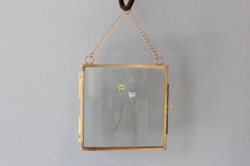 ブラスとガラスのフォトフレーム