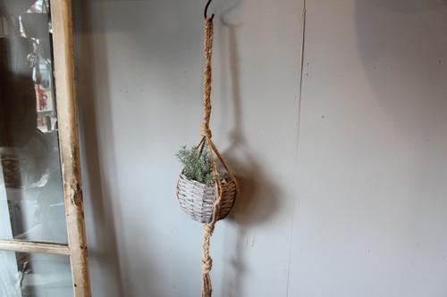 ジュートのハンギングロープ