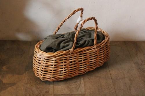 かごバッグのインバッグに使えるリネンのあずま袋