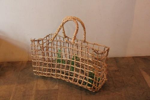 水草のメッシュ編みかごバッグ
