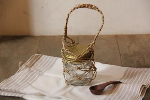 カチュー水草で編んだミニサイズのメッシュバッグ