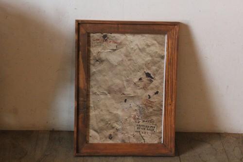 古材を使ったオールドパインのウッドフレーム