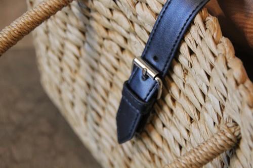 ハンドバッグタイプのペーパーかごバッグ