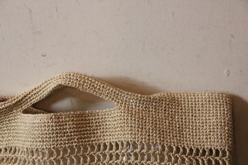 透かし編みペーパーかごバッグ