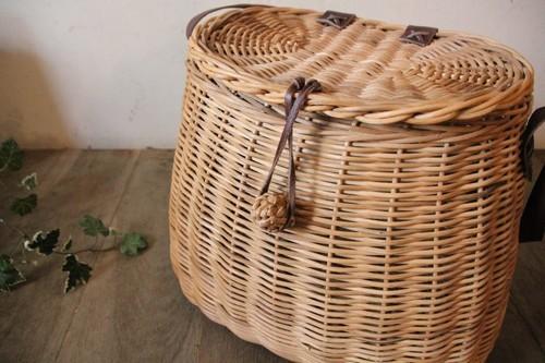 籐ラタンのショルダーピクニックバスケット