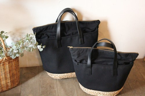 天然シーグラス素材とコットン100%の保冷かごバッグ