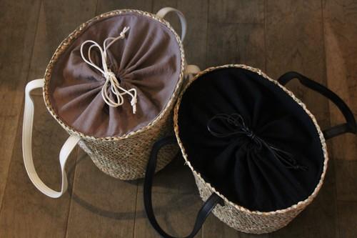 水草のポット型かごバッグ