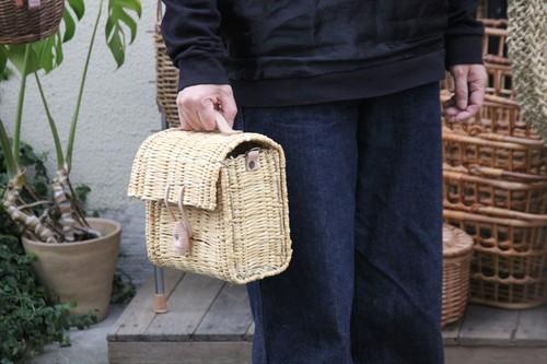 水草のショルダーかごバッグ