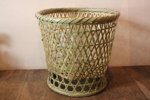 茨城県の国産真竹椀かご大と国産真竹高台丸かご