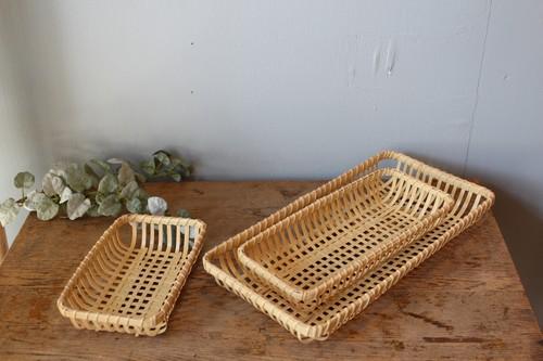 国産真竹の四つ目長角皿