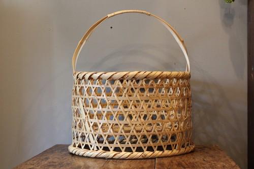 国産真竹の手付き高台椀かご