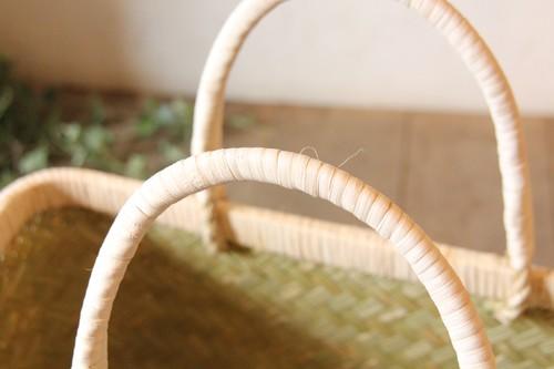 青竹の市場かごバッグ