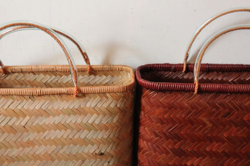 竹のあじろ編みかごバッグ