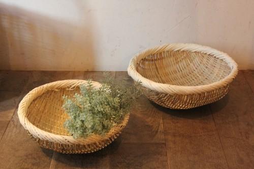 野菜の水切りかごとして使える竹ざる