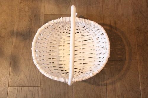 白塗り柳のリングピローバスケット