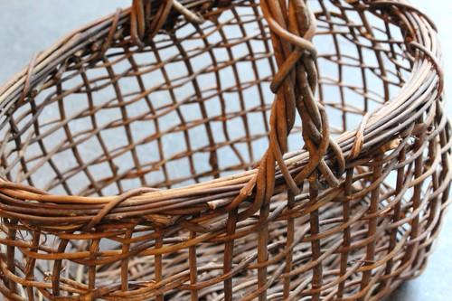 山籐のワンハンドルオーバル透かしかごバッグ