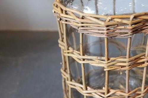 柳とガラスのメディシンボトル型フラワーベース