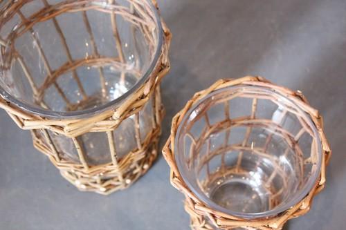 柳とガラスのブーケグラス