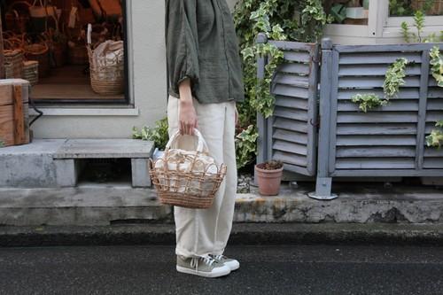 パームファイバーの透かしかごバッグ